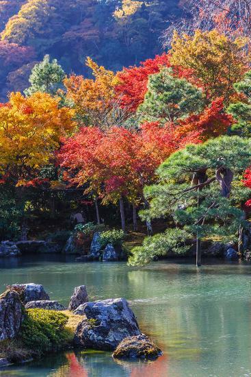 Tenryu-Ji's Sogen-Ji Garden in Kyoto-coward_lion-Photographic Print