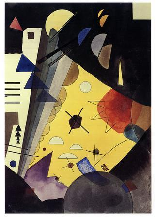 Tension in Height (No text)-Wassily Kandinsky-Lithograph