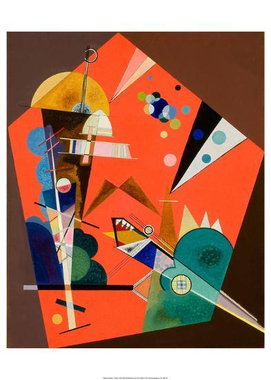 Tension in Red-Wassily Kandinsky-Art Print