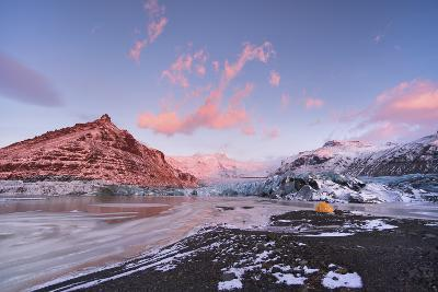 Tent at Skaftafell Glacier in Iceland-Chad Copeland-Photographic Print