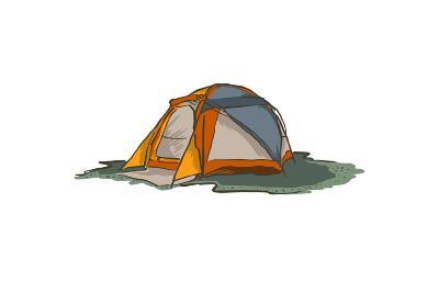Tent - Icon-Lantern Press-Art Print