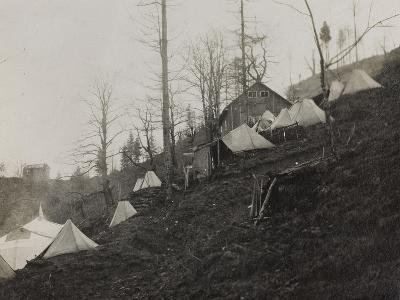 Tents to Shelter the Wounded in Pusno During the First World War-Luigi Verdi-Photographic Print