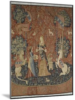 Tenture de la Dame à la Licorne : l'Odorat-null-Mounted Giclee Print