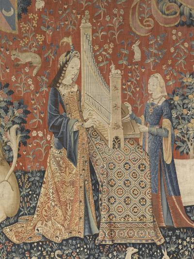 Tenture de la Dame à la Licorne : l'Ouie--Giclee Print