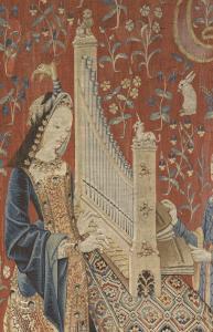 Tenture de la Dame à la Licorne : l'Ouie