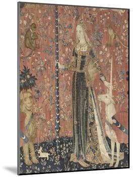 Tenture de la Dame à la Licorne : le Toucher-null-Mounted Giclee Print