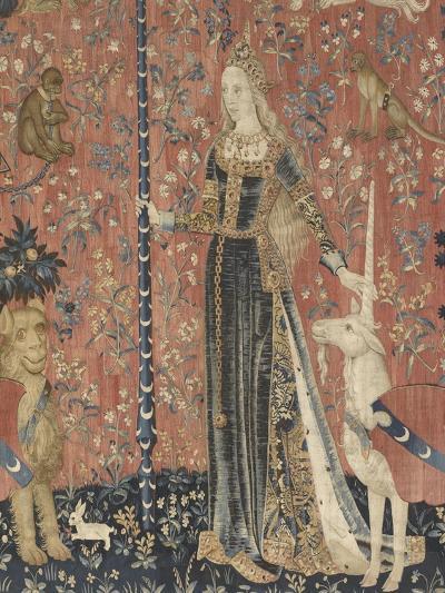 Tenture de la Dame ? la Licorne : le Toucher--Giclee Print