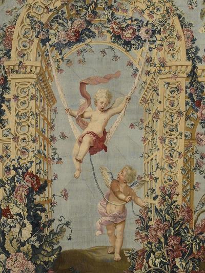 Tenture du Triomphe de Flore; L'escarpolette--Giclee Print