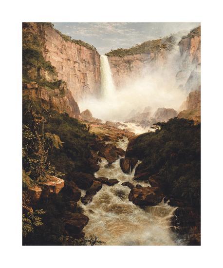 Tequendama Falls, near Bogota, New Granada-Frederic Edwin Church-Premium Giclee Print