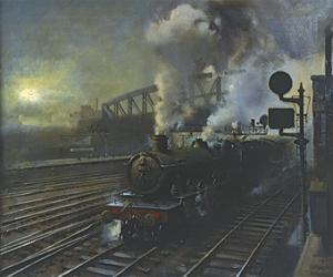 Paddington Station by Terence Cuneo