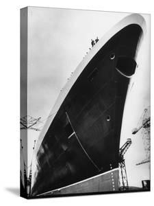 Launching of the Queen Elizabeth II Oceanliner by Terence Spencer
