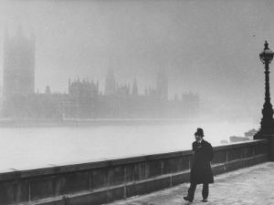 Patrolling Lambeth Bridge by Terence Spencer