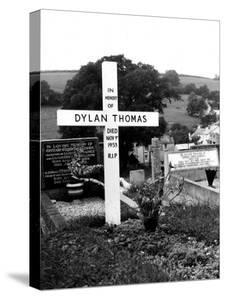 Poet Dylan Thomas' Grave Site Located in St. Martin's Churchyard by Terence Spencer