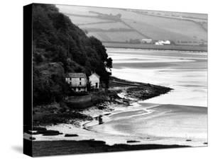 View of Poet Dylan Thomas' Boathouse Along the Coastline of Wales by Terence Spencer
