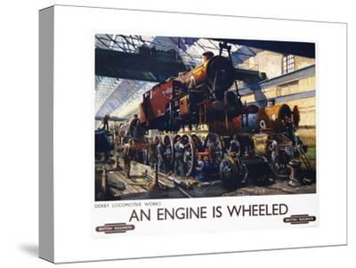 An Engine Is Wheeled Railroad Advertisement Poster