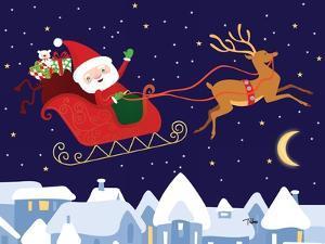 Santa & Reindeer by Teresa Woo