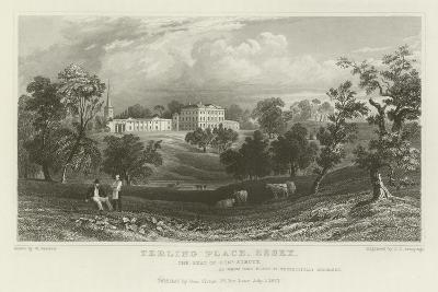 Terling Place, Essex, the Seat of General Strutt-William Henry Bartlett-Giclee Print
