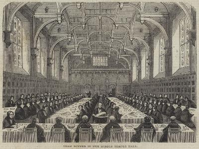 Term Dinner in the Middle Temple Hall--Giclee Print