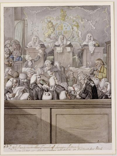Term Time - or the Lawyers All Alive in Westminster Hall-Robert Dighton-Giclee Print