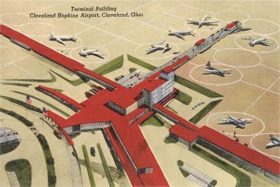 Terminal Building, Cleveland Airport--Art Print