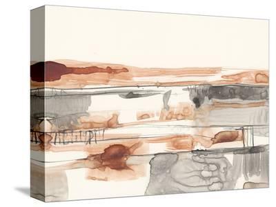 Terra Cotta Lines II-Jennifer Goldberger-Stretched Canvas Print
