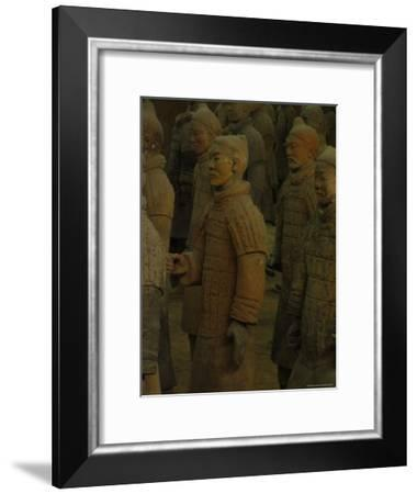 Terra-Cotta Warriors Excavated at Qin Shi Huangdis Tomb-Richard Nowitz-Framed Photographic Print