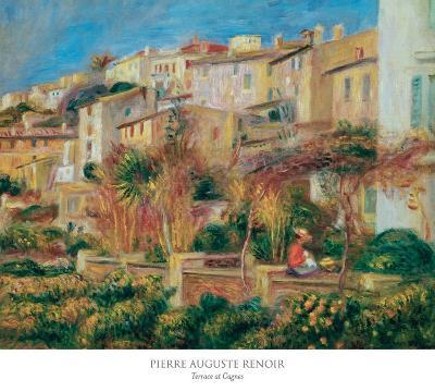 Terrace at Cagnes-Pierre-Auguste Renoir-Art Print