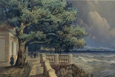 Terrace in the Monplaisir Palace, Peterhof, 1847-Alexander Matveyevich Dorogov-Giclee Print