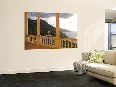 Terrace of Son Marroig Mansion and Gazebo at Sunset-Holger Leue-Wall Mural