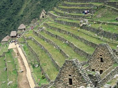 Terraced Fields at Machu Picchu-Dave G^ Houser-Photographic Print