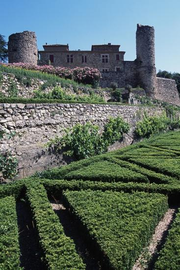 Terraced Garden of Chateau of Cazilhac, Le Bousquet-D'Orb, Languedoc-Roussillon, France--Photographic Print