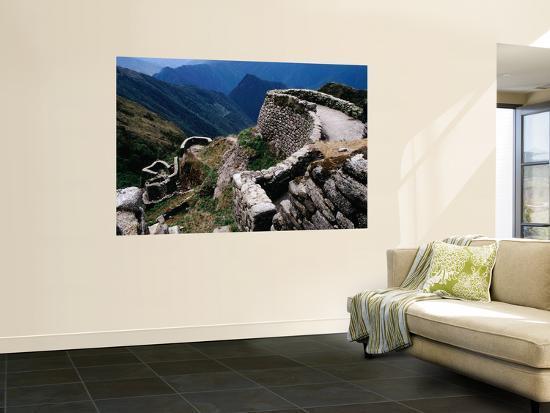 Terraced Ruins on the Inca Trail-Karl Lehmann-Wall Mural