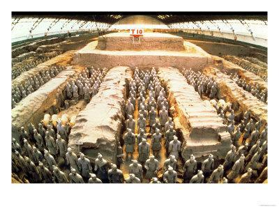 terracotta army  qin dynasty  210 bc giclee print by