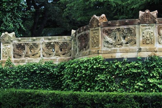 Terracotta Balcony, Caltagirone Public Gardens--Photographic Print