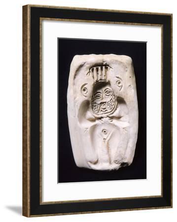 Terracotta Cast for Statuettes Representing God Bes--Framed Giclee Print