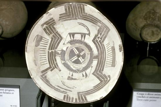 Terracotta dish with animal decoration, Susa, c4200-3800 BC. Artist: Unknown-Unknown-Giclee Print