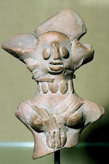 Terracotta female figure, Indus Valley, Mohenjo-Daro, 2500-2000 BC. Artist: Unknown-Unknown-Giclee Print