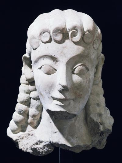Terracotta Female Head of Ionic Type, Ancient Greece--Giclee Print