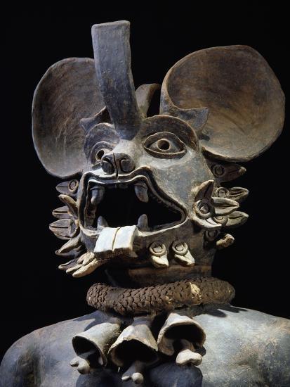 Terracotta Figurine Depicting Bat God Murcielago, Mexico--Giclee Print