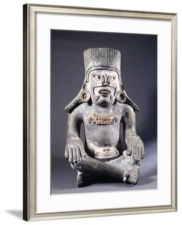 Terracotta Funeral Urn Depicting the God Pitao Cozobi with Earrings--Framed Giclee Print
