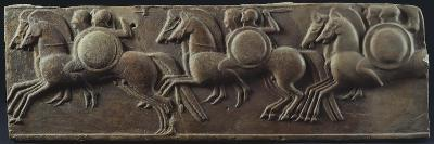 Terracotta Gutter with Relief Depicting a Horsemen Galloping--Giclee Print