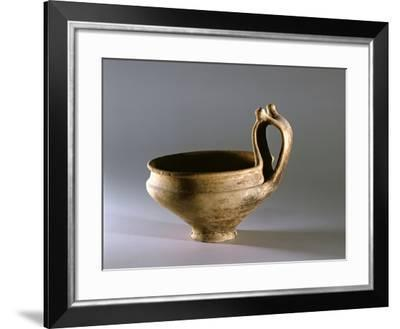Terracotta Kantharos with Bifurcated Handle from Montegrotto Terme, Sanctuary--Framed Giclee Print
