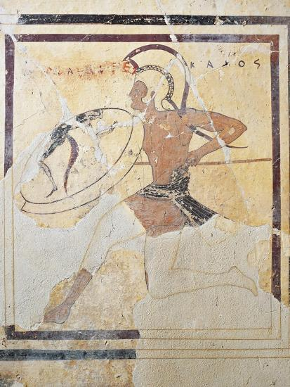 Terracotta Plaque with Armed Hoplite Running--Giclee Print