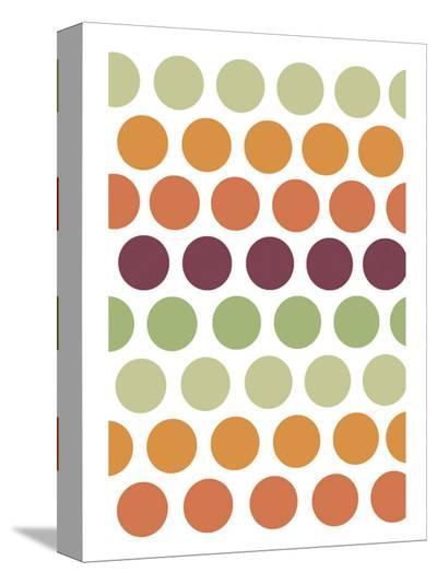 Terracotta Spots-Denise Duplock-Stretched Canvas Print