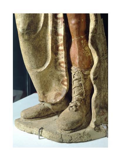 Terracotta Statue from Site of Lavinium-Pratica Di Mare, Lazio, Italy, Detail of Boot--Giclee Print