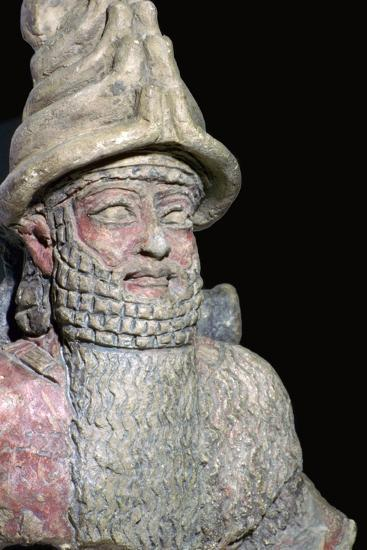 Terracotta statue of a great god from Ur. Artist: Unknown-Unknown-Giclee Print