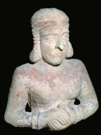 Terracotta statue of a woman, Old Babylonian (?), 2000BC-1750BC. Artist: Unknown-Unknown-Giclee Print