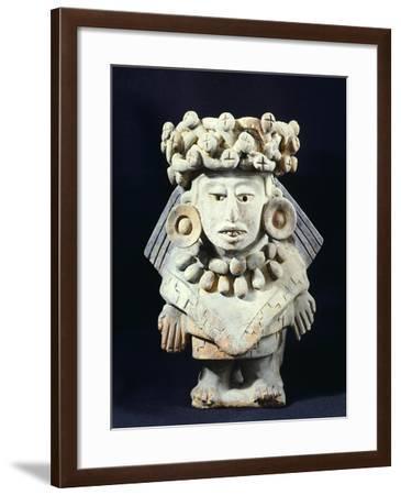 Terracotta Statue of the Goddess of Thirteen Snakes--Framed Giclee Print