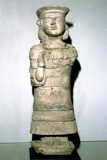 Terracotta statuette of the goddess Lama, Susa, 2nd millenium BC. Artist: Unknown-Unknown-Giclee Print