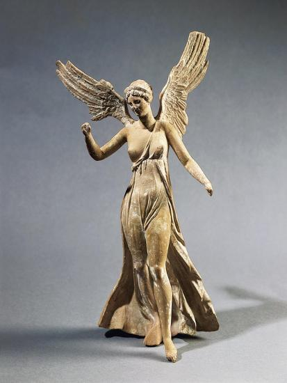 Terracotta Statuette of Victory, from Myrina--Giclee Print